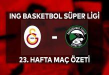 Galatasaray 87-98 Darüşşafaka Tekfen Maç Özeti