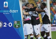 Udinese 2-0 Sassuolo Maç Özeti